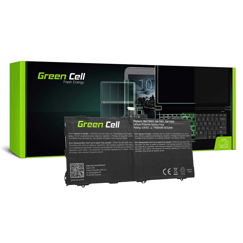 Green Cell® Batterie EB-BT800FBE EB-BT800FBU Samsung Galaxy Tab Tablet(7900mAh 3.8V Noir) Green Cell PRO TAB25_FR_N_1