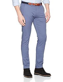 Mens Shhyard Sand Struc Slim Pants Trouser Selected