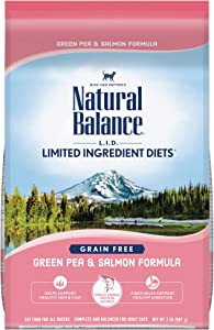 Natural Balance L.I.D. Limited Ingredient Diets Dry Cat Food, Green Pea & Salmon Formula, 2 Pounds, Grain Free
