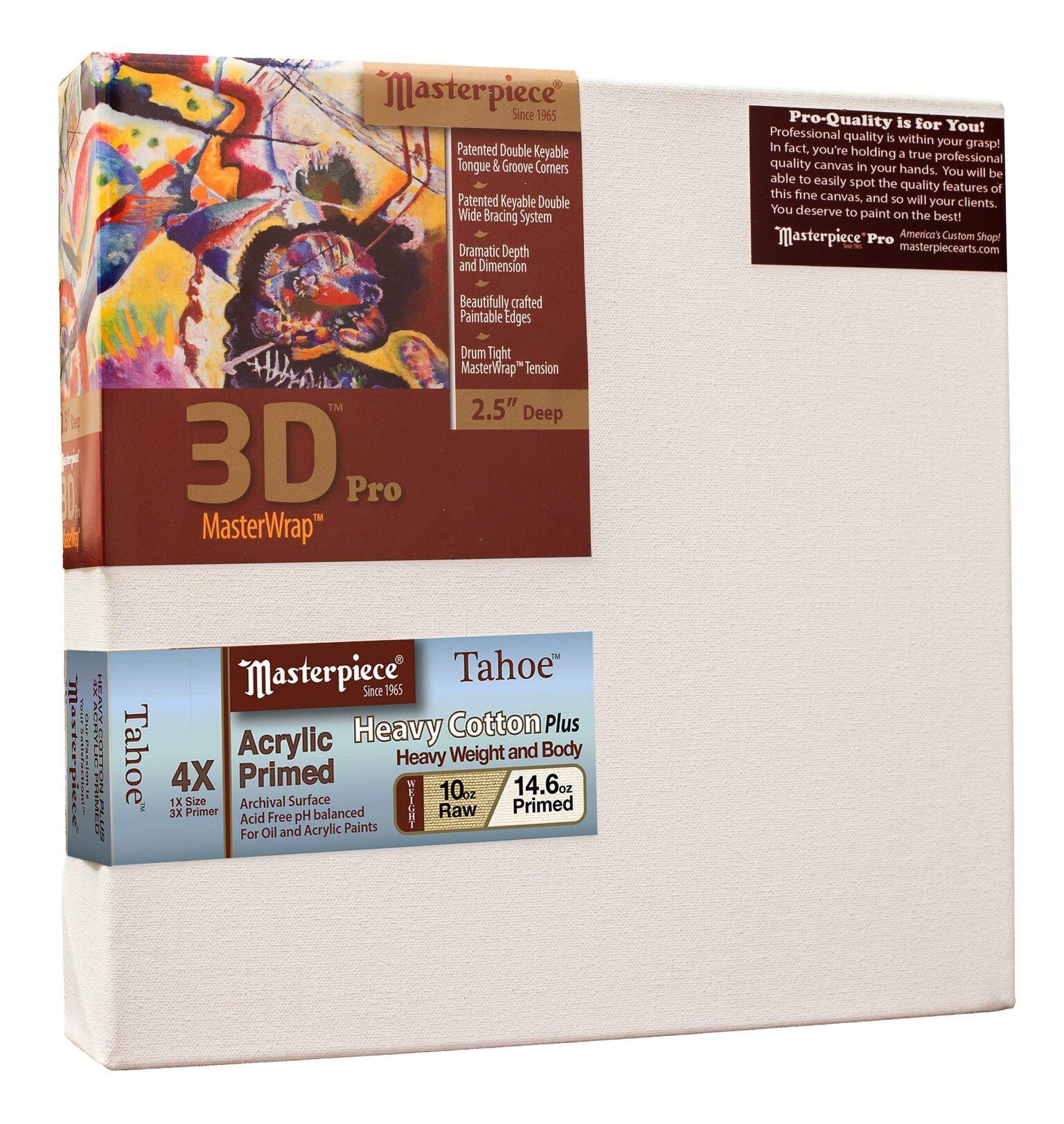 Masterpiece Artist Canvas 45593 3D Pro 2-1/2'' Deep, 54'' x 72'', Cotton 14.6oz - 4X - Tahoe Heavy Weight