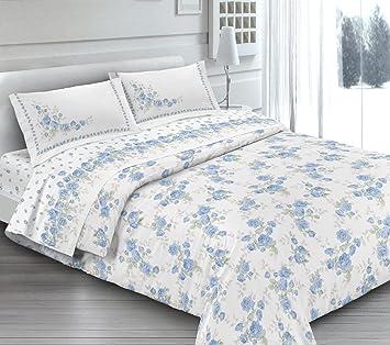 Angebot Komplett Bettwäsche Doppelbett Cloe Hellblau In
