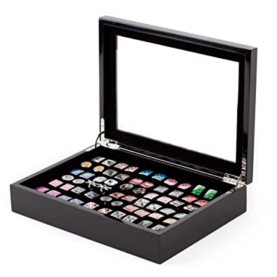 Black Cufflinks Storage Box / Case Affordable (Holds 36 Pairs) By Cuff Daddy