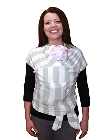 Super Snuggly Striped Baby Wrap Strong Infants /& Toddlers One Size Fits All Cozy and Soothing Supportive /& Stretchy Pocket On Front Promotes Bonding and Sleep with Baby Great for Newborns