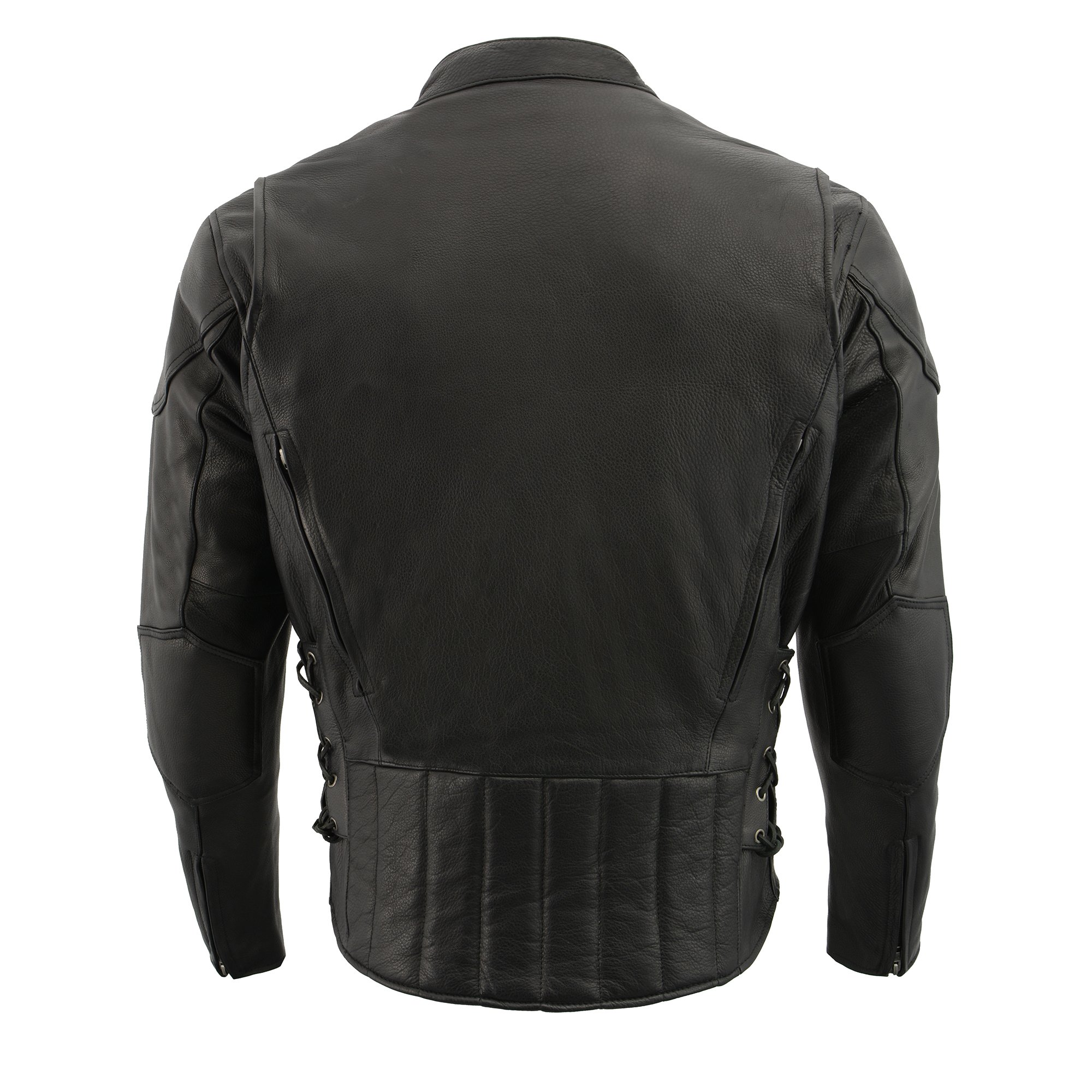 Milwaukee Leather Men's Side Lace Vented Scooter Jacket (Black, 5X-LargeTall) by Milwaukee Leather (Image #15)