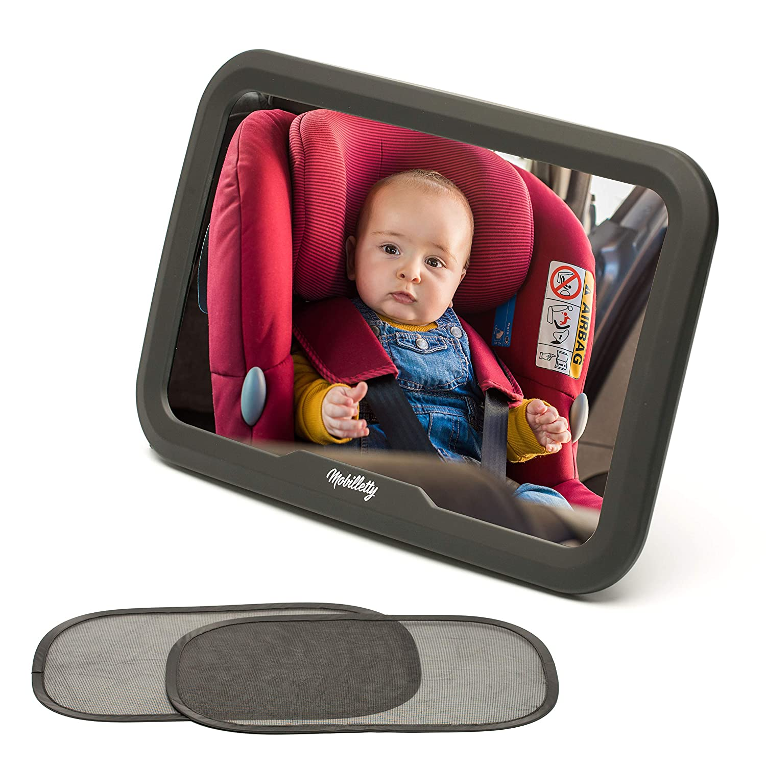 Baby Car Mirror for Back Seat - Infant Car Seat Mirror Rear Facing - Adjustable Baby Backseat Mirror for Car - Headrest Rearview Mirror Baby - Baby Car Accessories