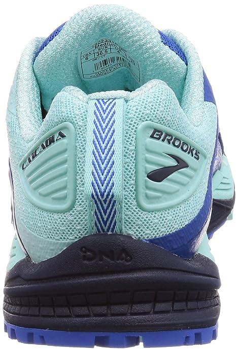 Brooks Damen Cascadia 12 Traillaufschuhe, Blau (Navy/Blue/Mint 1b496), 39 EU