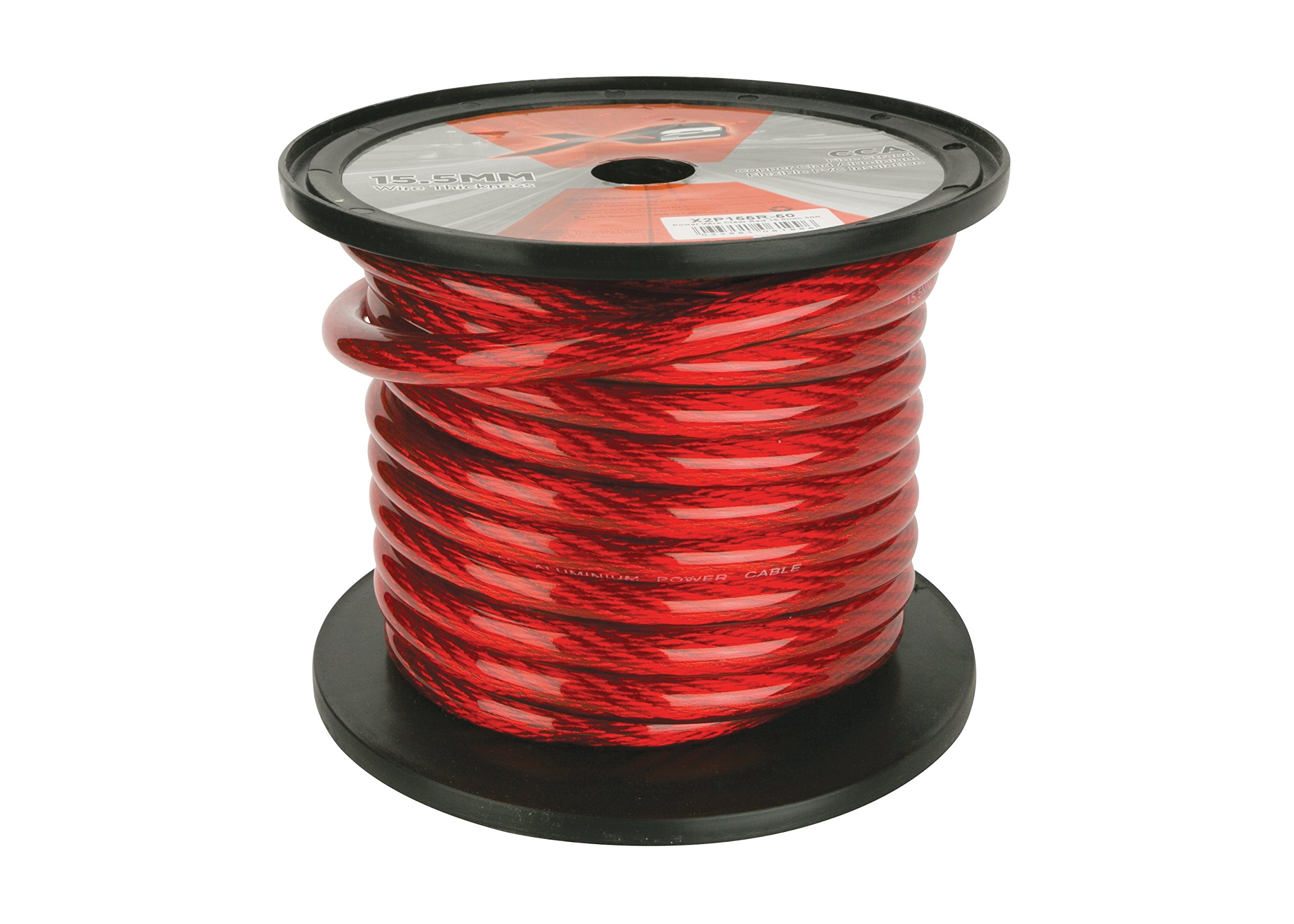 Scosche X2P155R-50 Power Wire Red 15.5mm 50ft