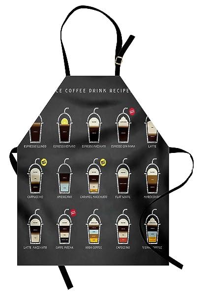 Amazon.com: Lunarable Coffee Apron, Group of Ice Coffee ...