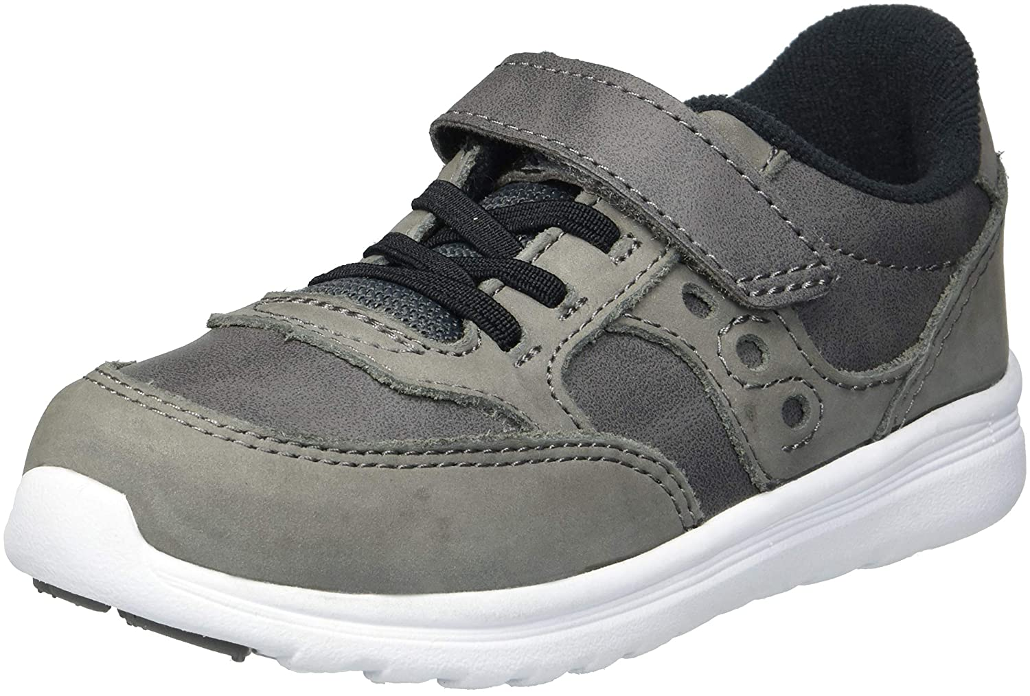 Saucony ユニセックスキッズ B078FQN76S 6.5 Wide US Toddler|グレー グレー 6.5 Wide US Toddler