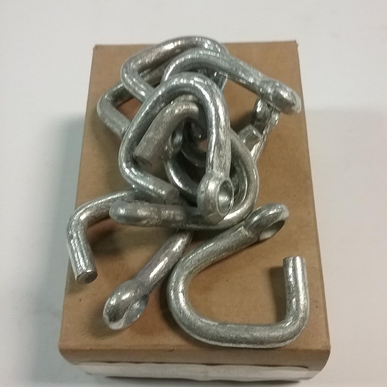 25 PCS.//CTN 1//4 Zinc Plated Proof Coil Cold Shut
