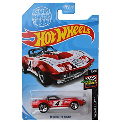 Hot Wheels Race Day Series 8/10 \'69 Corvette Racer 173/250, red: Toys & Games [5Bkhe0905275]