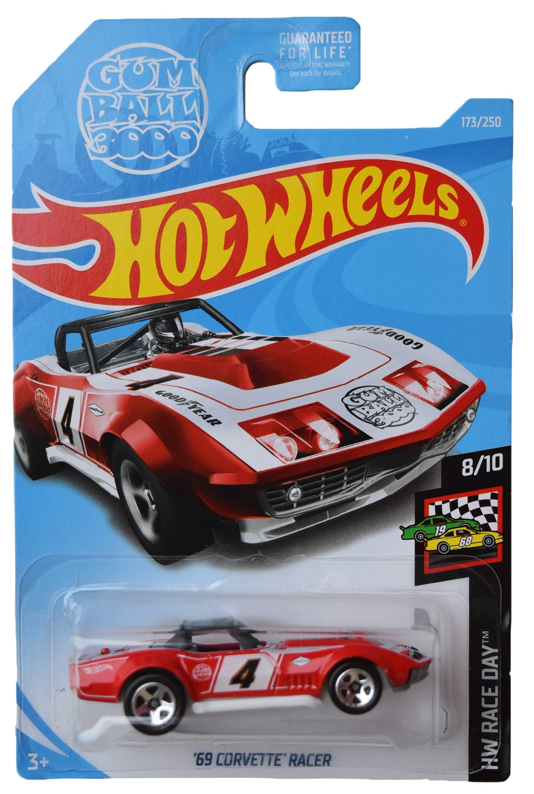 Hot Wheels Race Day Series 8/10 '69 Corvette Racer 173/250, red
