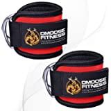 DMoose Fitness Ankle Strap for Cable Machines for Kickbacks, Glute Workouts, Leg Extensions, Curls, and Hip Abductors…