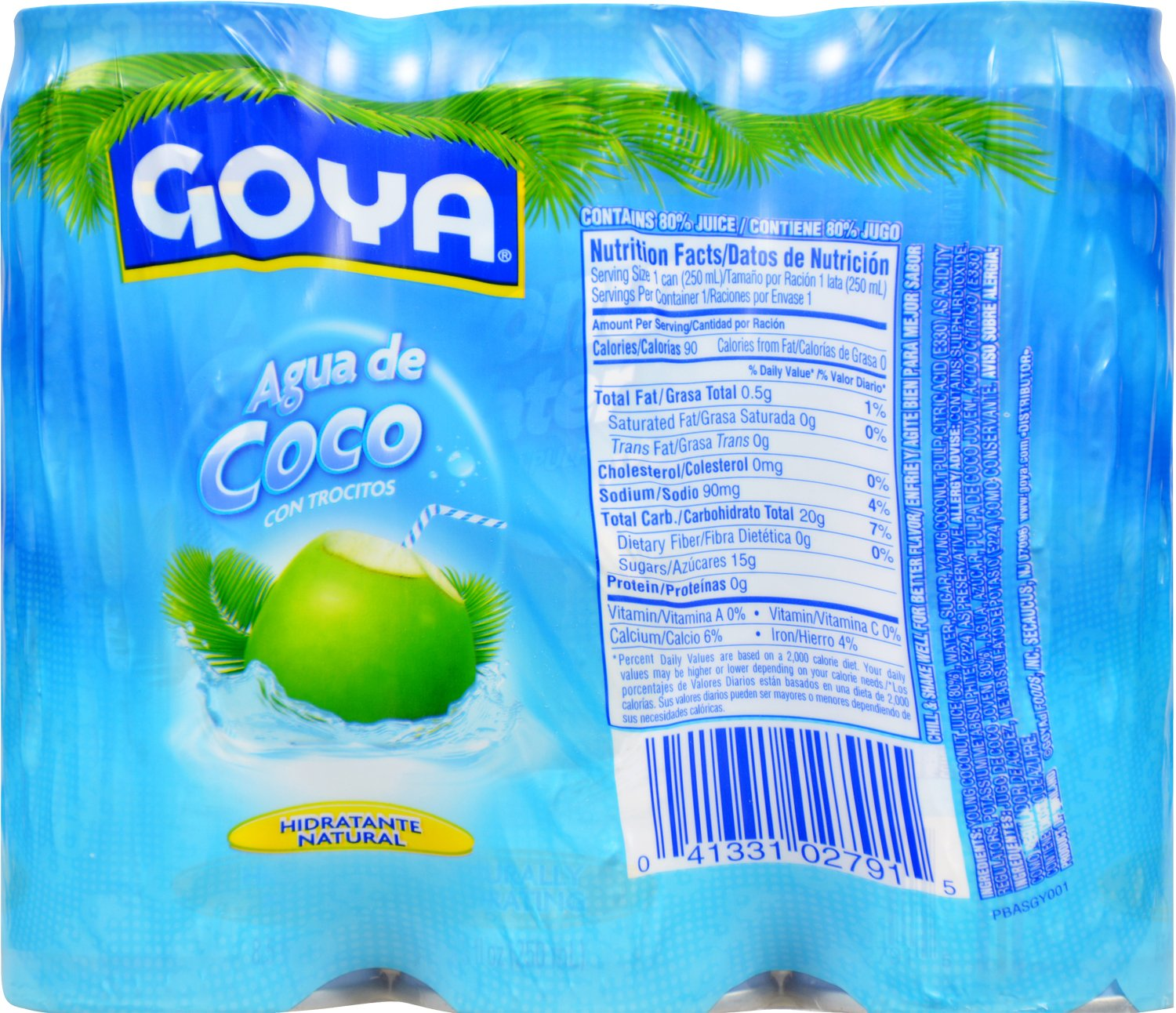 Goya Foods Agua de Coco con Pulpa: Amazon.com: Grocery ...
