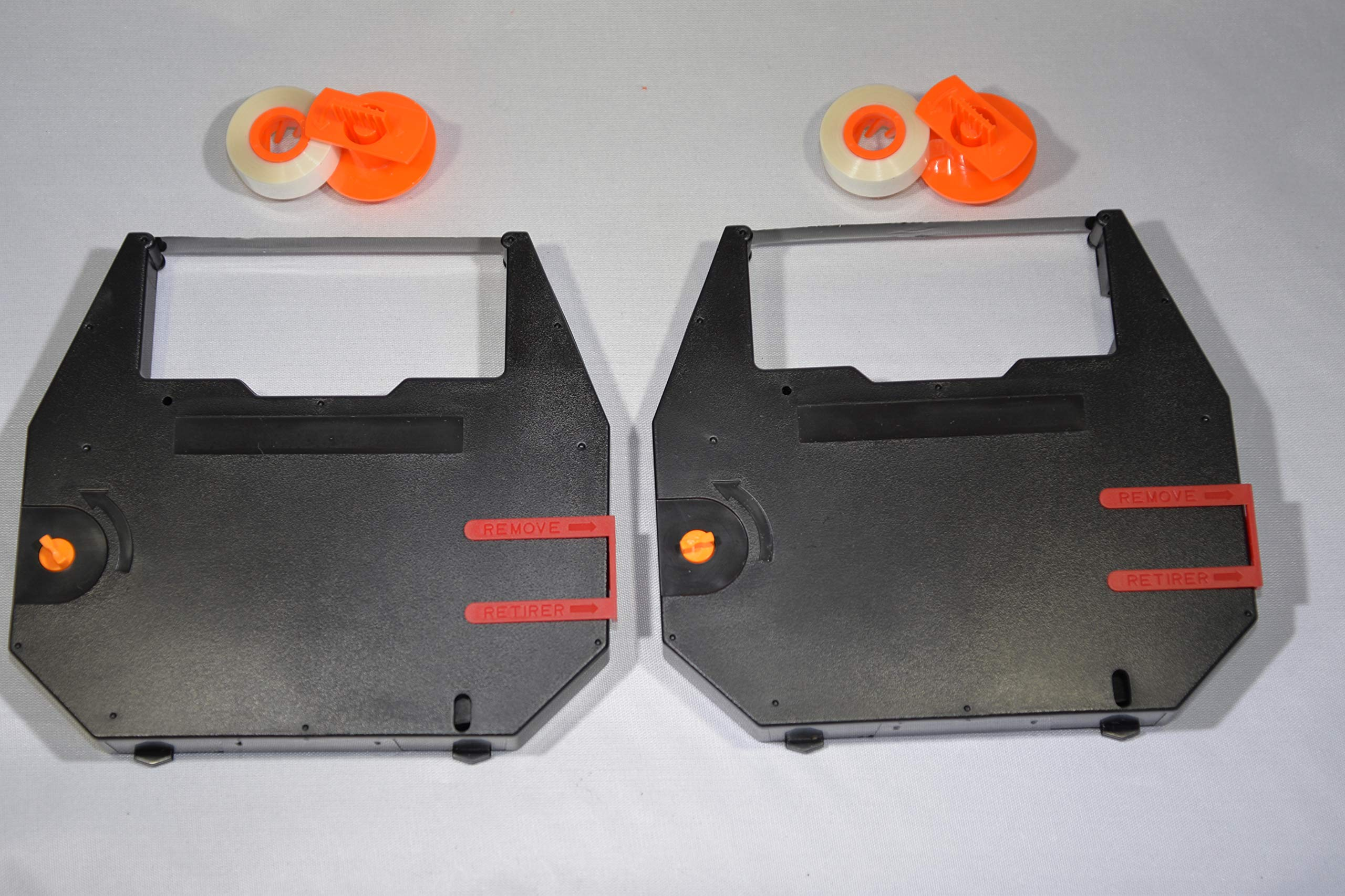 FJA Products Compatible Typewriter Ribbon & Correction Spools for Sears SR 1000 The Electronic II Typewriter. The Package Includes 2 Black Typewriter Cassettes and 2 Lift Off Correction Tape Spools by FJA Products