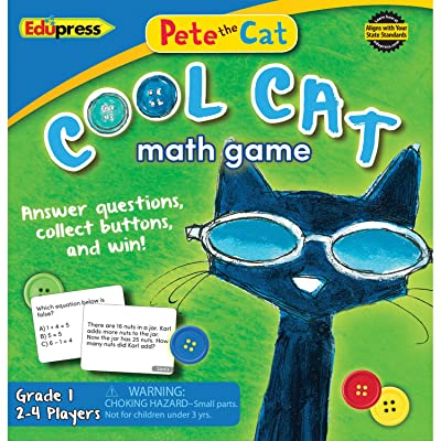 Edupress Pete The Cat Cool Cat Math Game 1 (EP63531): Office Products