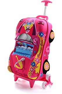 T Bags For Kids 3D Car Princess Pink Childrens Tolley Bag