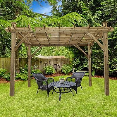 Cedarshed The Okanagan 10' x 12' Cedar Pergola: Garden & Outdoor