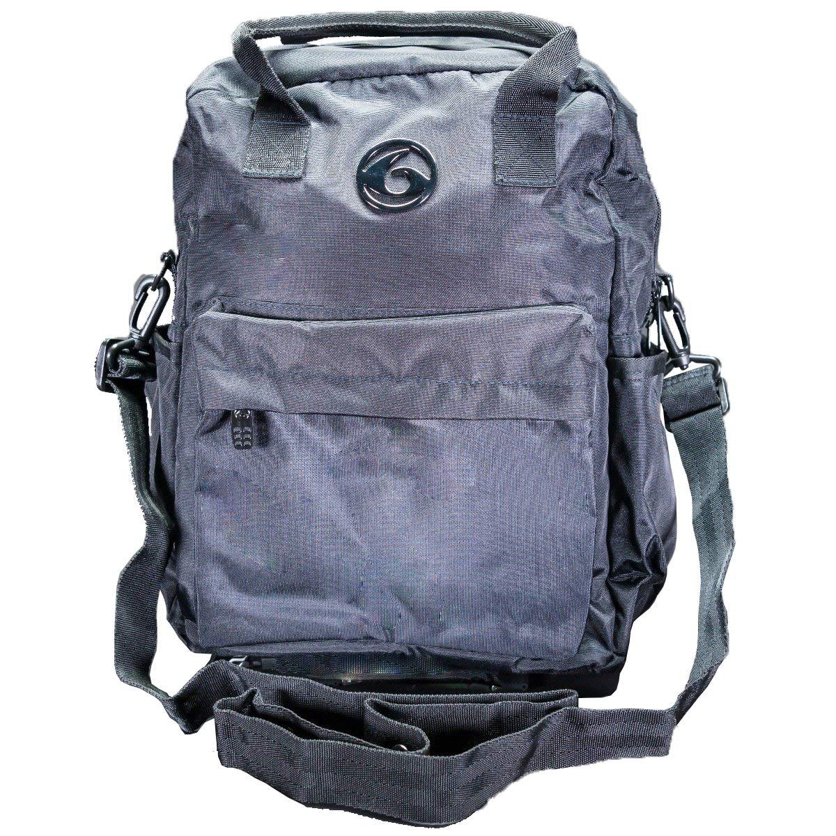 6 Pack Fitness Explorer Backpack Meal Management System 300 Stealth Black w/Bonus Zogosportz Cyclone Shaker