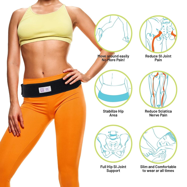 ... soporte de la articulación del sacroilíaco, para el alivio del dolor pélvico y del hueso sacro - Alivia el dolor de cadera, la baja espalda, la ciática, ...