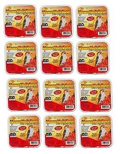 Pine Tree Farms 3013 Hot Pepper Never Melt Suet Dough, 12 Ounce, 12 Pack