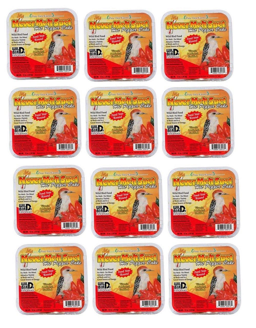 Pine Tree Farms 3013 Hot Pepper Never Melt Suet Dough, 12 Ounce, 12 Pack by Pine Tree Farms