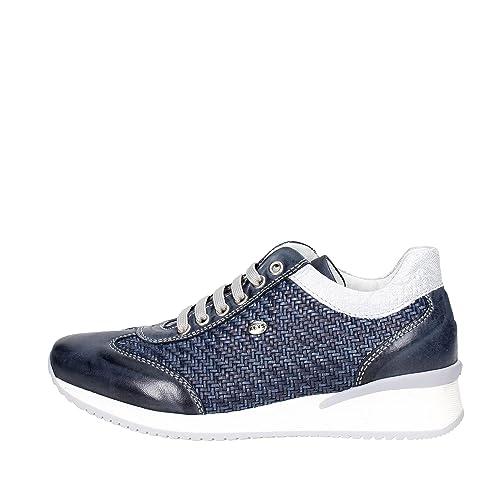 finest selection 8dd7b 64d5f Keys Scarpe Donna Sneaker in Pelle blu 5212-BLU Blue: Amazon ...