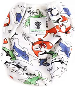 Swimming Nappies - Stylish Swim Nappies Reusable for Baby & Toddler by Sarah-Jane Collection. Eco-Friendly, Washable, Grows with Your Baby - One Size fits - (Multi Colour Shark)
