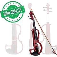 Koval Inc. Full Size Silent Electric Violin Headphone Set Wood w/Case (Black)
