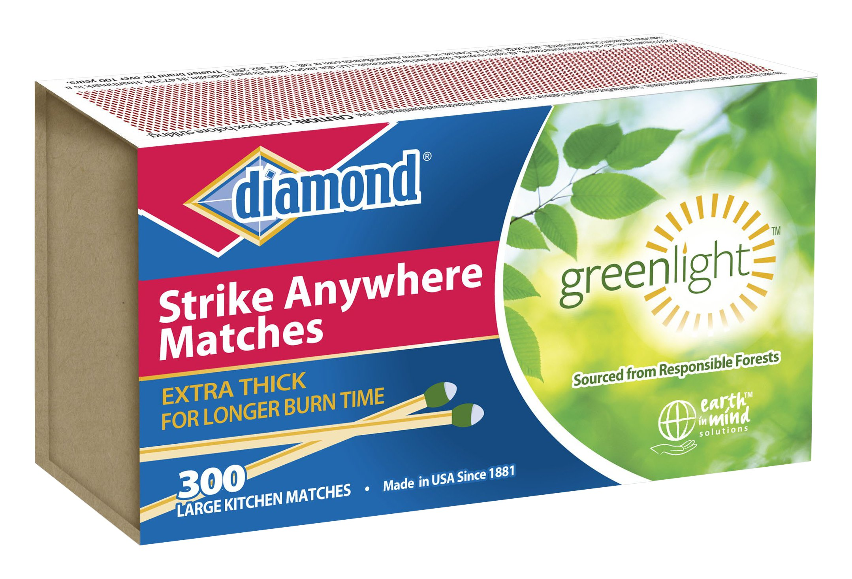 "Diamond Strike Anywhere""Greenlight"" Matches 300"