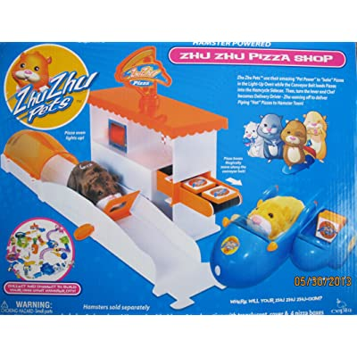 Zhu Zhu Pets Cepia PIZZA SHOP PLAYSET w LIGHT UP OVEN (2010): Toys & Games