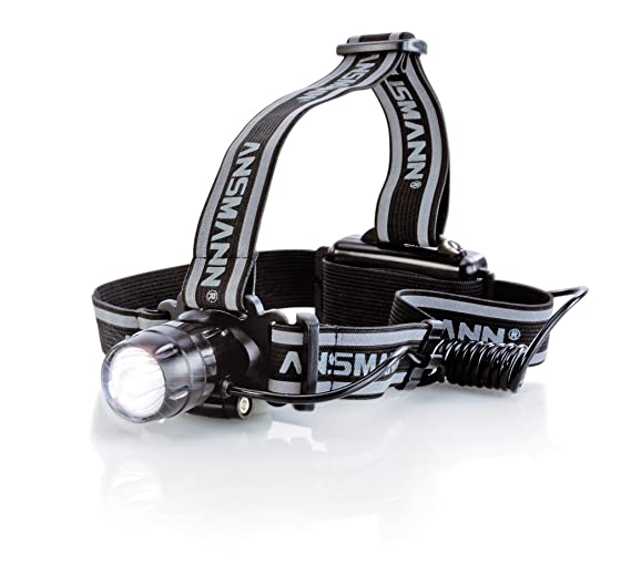 Ansmann HD3 - Linterna frontal LED, 5000 lux, alcance de 500 m