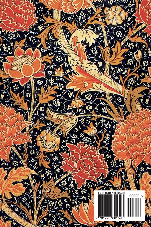 Bullet Journal Red And Black Botanical Pattern Vintage Floral