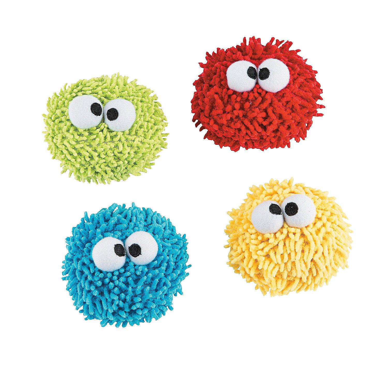 Fun Express - Plush Google Eye Screen Cleaner - Toys - Plush - Stuffed Non Animal - 12 Pieces by Fun Express
