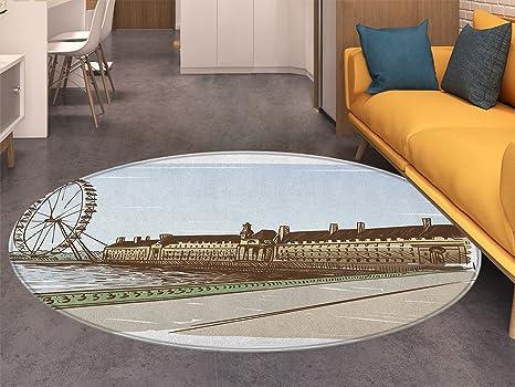 Amazon Com London Small Round Rug Carpet Buckingham Palace