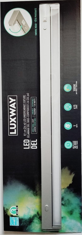new product 7b7bb 47150 Luxway LED 61 cm(24 in) LED Undercabinet Light Fixture Closet Light  Wireless Luxury Aluminum Night Lighting for Kitchen Cabinet, Closet,  Wardrobe