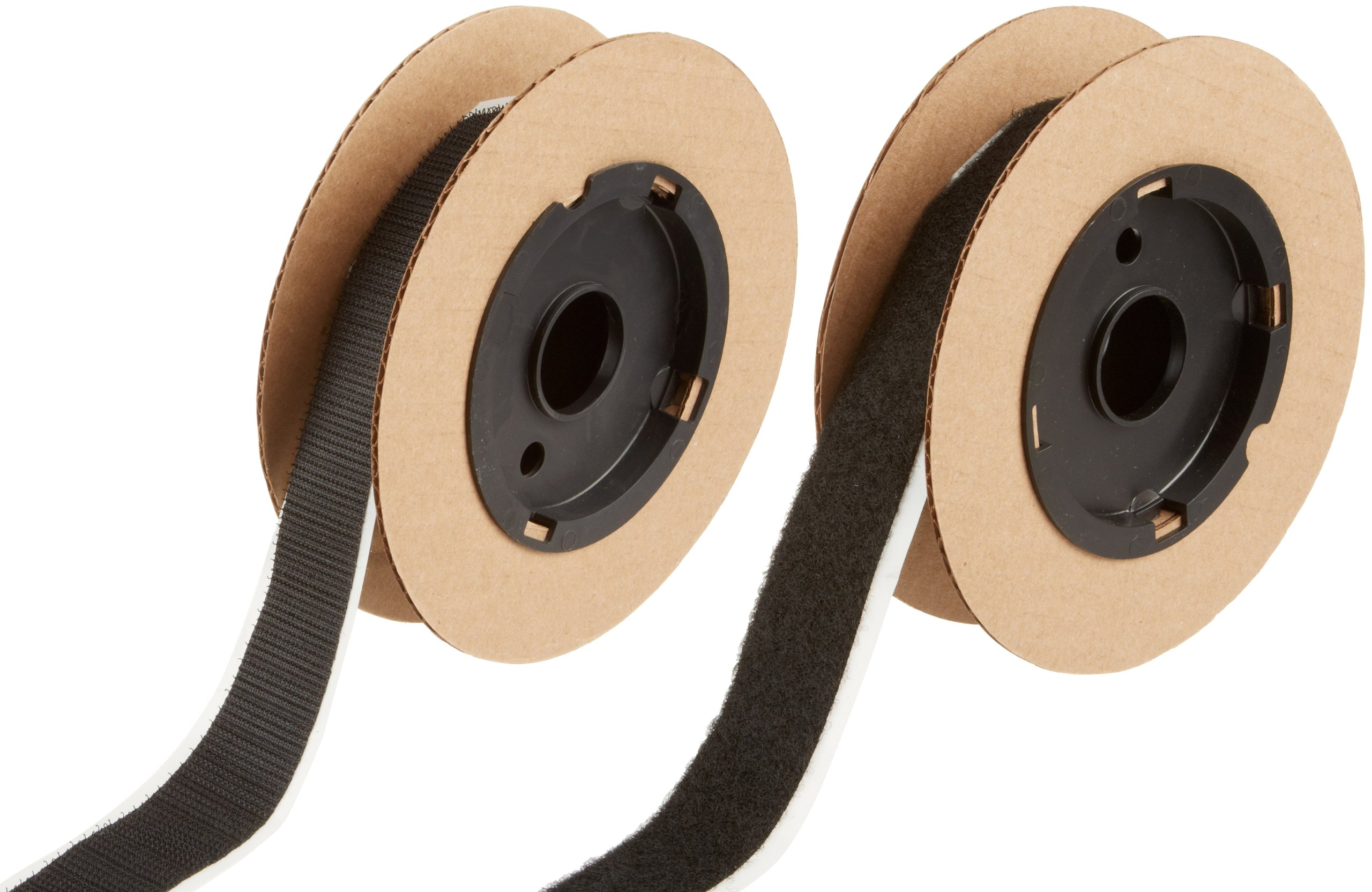 VELCRO 3804-SAT-PSA/B Black Super Adhesive Nylon Hook and Loop Combo Pack, 0132 Adhesive Backed, 1'' Wide, 5' Length