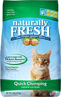 product image for Naturally Fresh Cat Litter - Walnut-Based Quick-Clumping Kitty Litter, Unscented, 6 lb