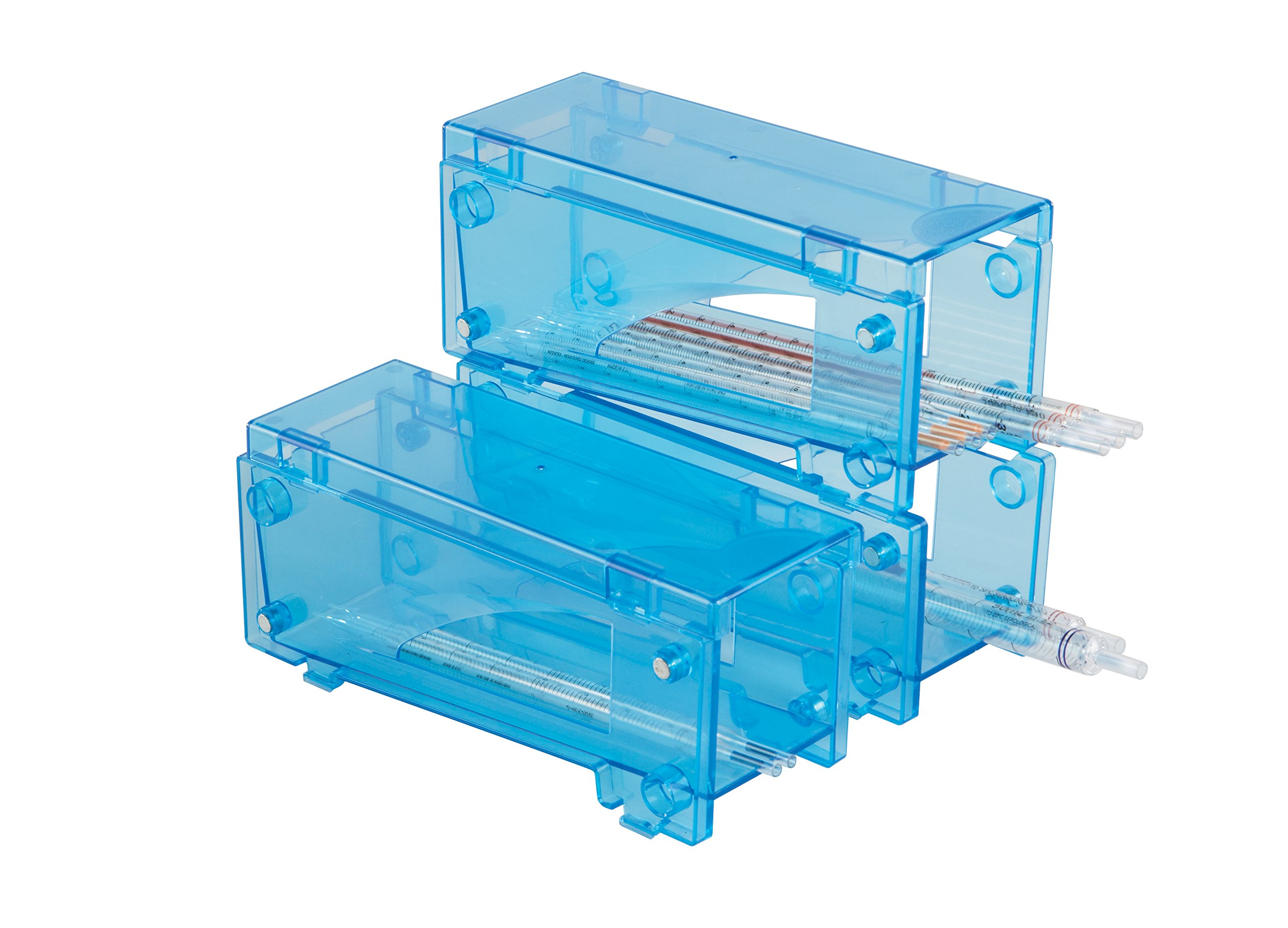 Heathrow Scientific HD20615M Blue Cargo Manual Pipette Rack, 95mm Width x 301mm Height x 127.5mm Depth (Pack of 3)