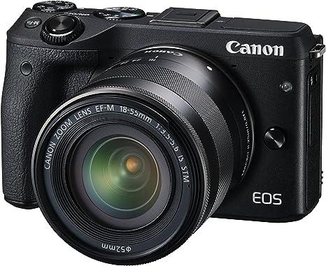 Canon EOS M3 + EF-M 18-55mm - Cámara Digital de 24.2 MP (Pantalla ...