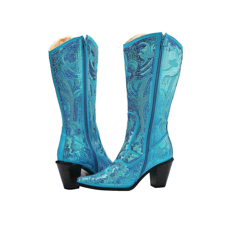 Helens Heart Bling Boots B017MTWQ2Q 12 B(M) US Turquoise