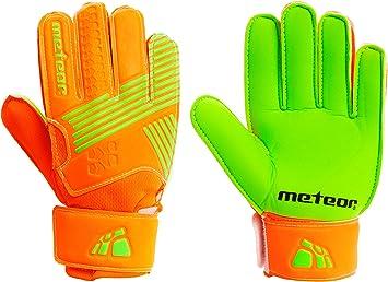 meteor Guantes Portero Goalkeeper Gloves Entrenamiento Futbol Equipacion fútbol niños niños - protección para los Dedos Catch: Amazon.es: Deportes y aire libre
