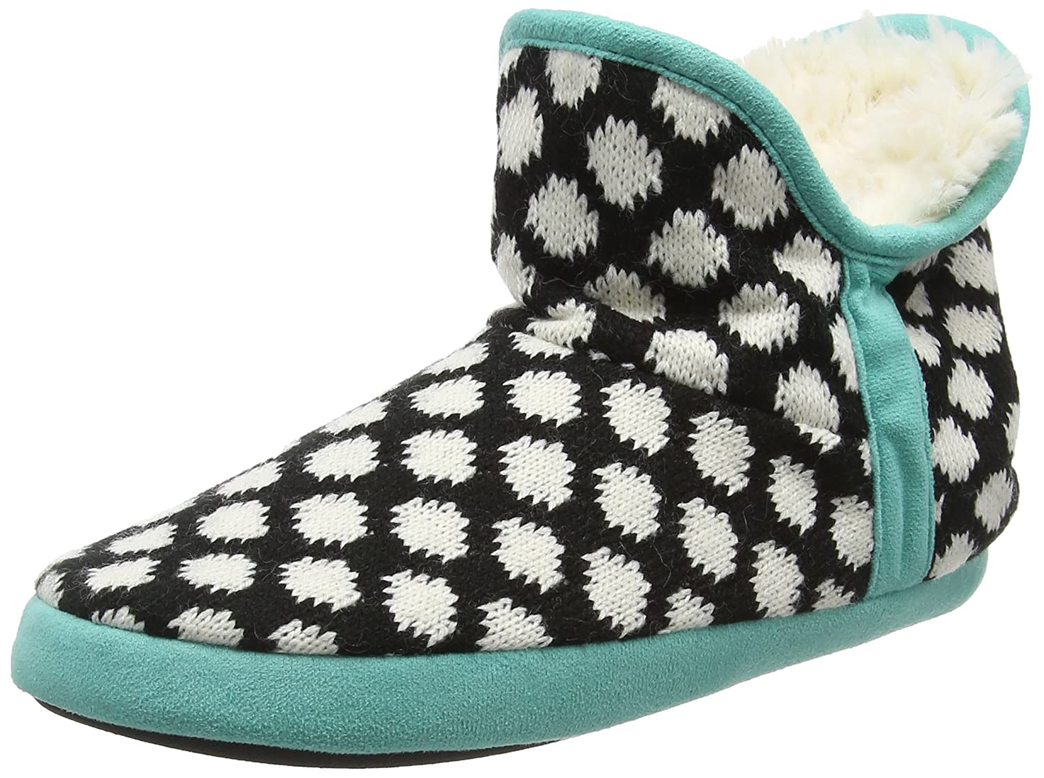 Dearfoams Fairisle Bootie with Microsuede Trim Black 19930 and Memory Chaussons Foam, Chaussons Montants Femme Black (Black 00001) 7f827e8 - conorscully.space