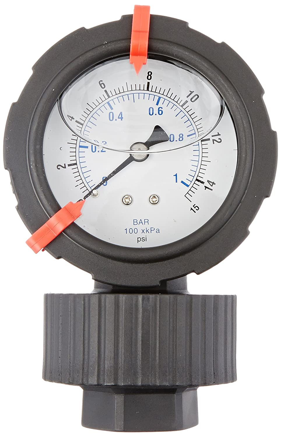 1//2 Female NPT Connection Size and Polycarbonate Lens Polypropylene Lower Housing 0//15 psi Range Viton Diaphragm Bottom Mount Glycerine Filled Molded Pressure Gauge and Diaphragm Seal with a Polypropylene Case PIC Gauge 701LDS-252B  2.5 Dial