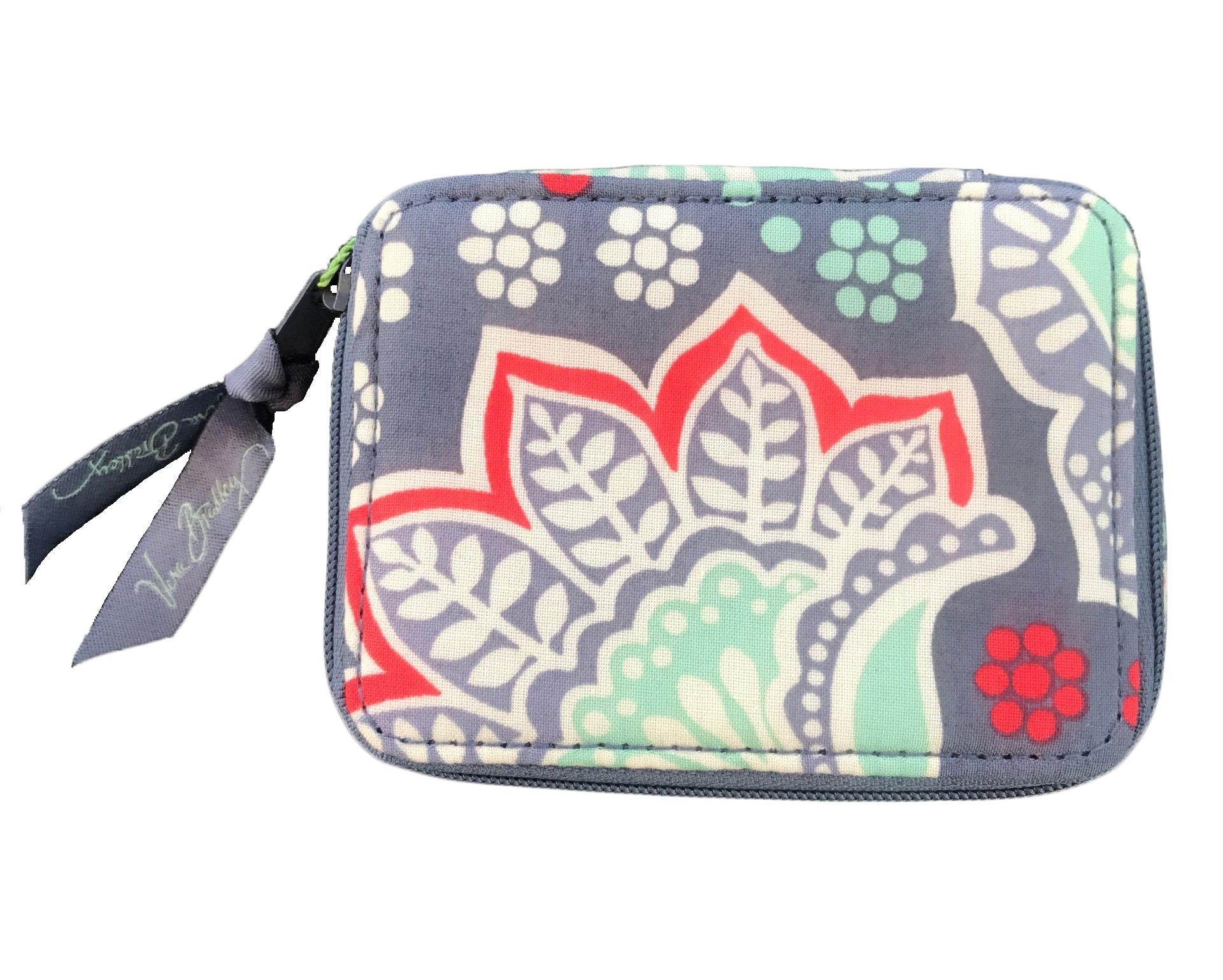 Vera Bradley Travel Pill Case in Nomadic Floral Solid Grey Lining