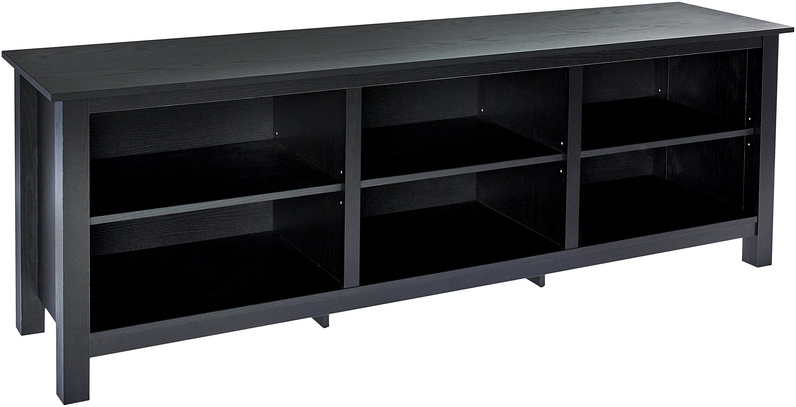 Rockpoint Argus Wood TV Stand Media Console, 70-Inch - Espresso Black by ROCKPOINT