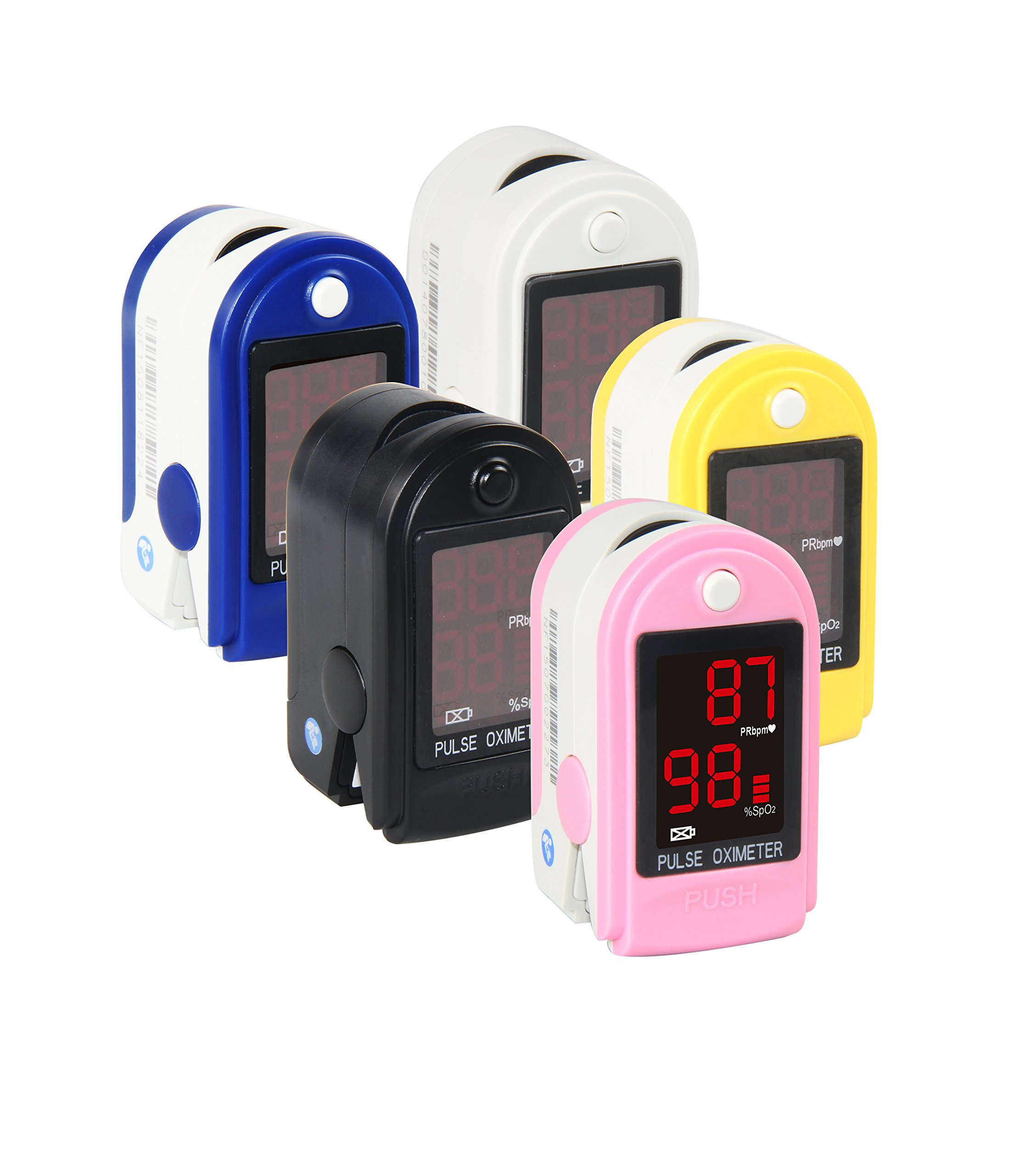 Concord Basics Fingertip Pulse Oximeter - Pink - with Carrying Case, Lanyard and Batteries
