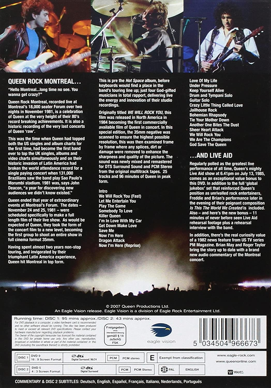 Queen Rock Montreal & Live Aid 2DVD 2007 NTSC: Amazon co uk: Queen