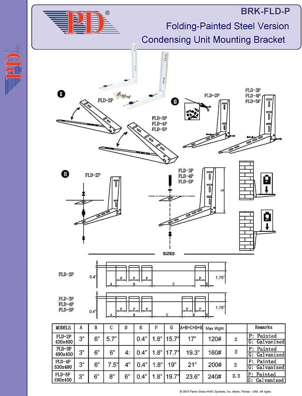 condensing unit schematic amazon com mounting bracket for mini split ductless air  amazon com mounting bracket for mini