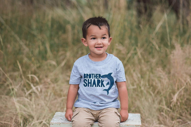 7 ate 9 Apparel Boys Brother Shark Grey T-Shirt